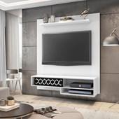 Painel Suspenso 50803 Liz Branco para TV de até 50 Polegadas com Nichos Sala de Estar Recepção - AM Decor