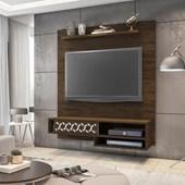 Painel Suspenso 50803 Liz Cedro para TV de até 50 Polegadas com Nichos Sala de Estar Recepção - AM Decor
