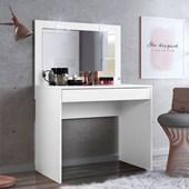 Penteadeira Camarim Atraente com Espelho e LED Branco Luxo para Quarto Sala Salão Estúdio - Demóbile