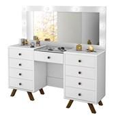 Penteadeira Camarim c/ Espelho Melinda Branco - Amarena Móveis