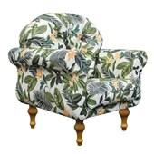 Poltrona Cadeira Dani Sala De Estar Recepção Floral - Amarena