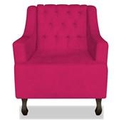 Poltrona Cadeira Decorativa Capitonê Luis XV Dante Pink Suede - AM Decor