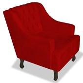 Poltrona Cadeira Decorativa Capitonê Luis XV Dante Vermelho Corano - AM Decor