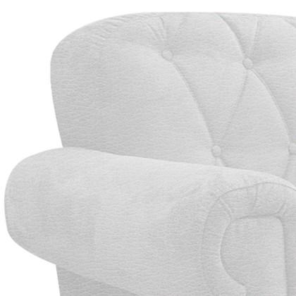 Poltrona Cadeira Decorativa Dani Corano Branco para Sala de Espera Consultório Recepção Escritório Sala de Estar Quarto - AM Decor