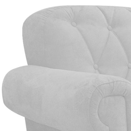 Poltrona Cadeira Decorativa Dani Suede Branco Capitonê para Consultório Sala de Espera Escritório Sala de Estar Recepção Quarto - AM Decor