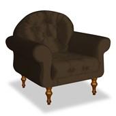 Poltrona Cadeira Decorativa Mini Dani para Criança Suede Marrom Sala de Estar Recepção Quarto  - AM Decor Sala de Estar Recepção Quarto  - DS Decor