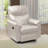 Poltrona Cadeira Sofá Reclinavél Audi Corano Bege para Sala de Estar Recepção Escritório Luxo - Matrix