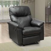 Poltrona Cadeira Sofá Reclinavél Audi Corano Preto para Sala de Estar Recepção Escritório Luxo - Matrix