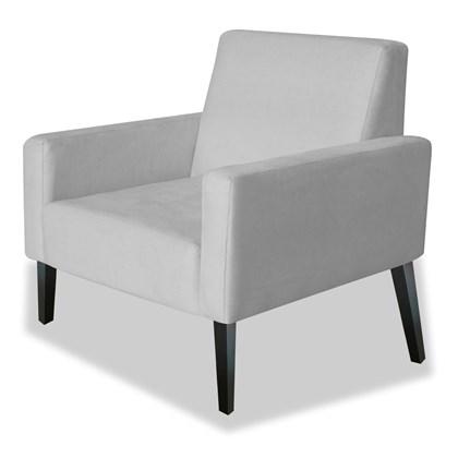 Poltrona Decorativa Cadeira Manu Corano Cinza para Sala de Espera Recepção Consultório Escritório Sala de Estar Quarto - AM Decor
