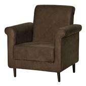 Poltrona Sofá Cadeira Decorativa Betina Corano Marrom para Sala de Estar Recepção Quarto Escritório Consultório - Matrix