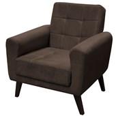 Poltrona Sofá Cadeira Decorativa Lívia Suede Marrom para Sala de Estar Recepção Quarto Escritório Consultório - Matrix