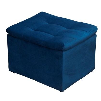 Puf Puff Banqueta Banco Decorativo Relax Suede Aveludado Azul Marinho para Sala de Estar Recepção Escritório Quartos - Matrix