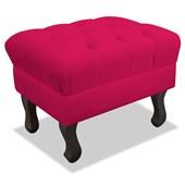 Pufe Puf Puff Strass Decorativo Retrô Luis XV Quadrado Corano Pink para Sala de Estar Quarto - AM Decor