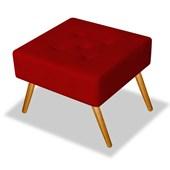 Pufe Puff Puf Banqueta Decorativo Quadrado Bia Suede Vermelho para Escritório Sala de Estar Recepção Quarto Luxo - AM Decor