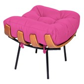 Puff Decorativo Costela Base Fixa Corano Pink - Amarena