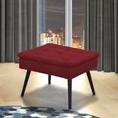 Puff Puf Banco Banqueta Decorativo Conforto Suede Vermelho Sala de Estar Recepção Escritório - Matrix