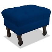 Pufinho Puff Puf Pufão Decorativo Strass Quadrado Retrô Luis XV Corano Azul Marinho para Sala de Estar Quarto - AM Decor