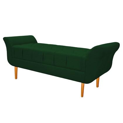 Recamier Estofado Ari 160 cm Queen Size Suede Verde - Amarena Móveis