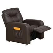 Sofá Cadeira Poltrona do Papai Reclinavél Azera Corano Marrom para Sala de Estar Recepção Quarto Escritório Luxo - Matrix