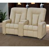 Sofá Cadeira Poltrona do Papai Reclinavél Jetta 2 Lugares Corano Bege Conforto Sala de Estar Escritório Quarto - Matrix