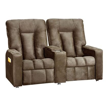 Sofá Cadeira Poltrona do Papai Reclinavél Jetta 2 Lugares Corano Marrom Conforto Sala de Estar Escritório Quarto - Matrix