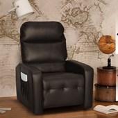 Sofá Cadeira Poltrona do Papai Reclinavél Siena Corano Marrom Sala de Estar Recepção Escritório - Matrix