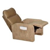Sofá Cadeira Poltrona do Papai Reclinavél Siena Suede Marrom Cacau Sala de Estar Recepção Escritório - Matrix
