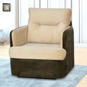 Sofá Cadeira Poltrona Reclinavél de Balanço Amamentação Peppa Suede Bege com Suede Marrom Quarto - Matrix