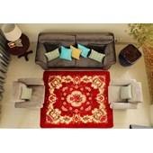 Tapete 1,50 X 2,00 Indiano Vermelho para Sala Quarto - Amarena Móveis