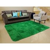 Tapete Carpete Felpudo Peludo Peludão Verde 2,00x2,00 m + Brinde para Quarto Sala de Estar Recepção - AM Decor