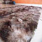 Tapete Carpete Peludo Peludão Marrom Mesclado 3,00x2,00 m + Brinde para Recepção Sala de Estar Quarto Luxo - AM Decor